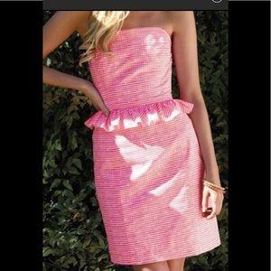 Lilly Pulitzer Fiesta Pink Gingham Dress